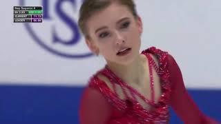 Дарья Усачёва серебряный призёр чемпионата мира среди юниоров 2020 Произвольная программа