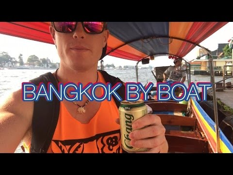 Bangkok Boat Tour Live 🇹🇭🌴Tourist Activities Thailand: River Canal Cruise Travel Vlog 2016
