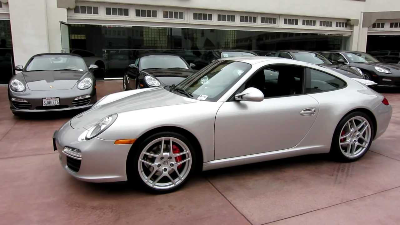 93 2009 porsche 911 carrera s coupe sold in beverly hills 10k mi arctic silver black pdk 997 youtube