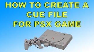 كيفية إنشاء ملف Cue على بلاي ستيشن 1 لعبة