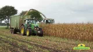 Lohnunternehmen Stevens in de mais met de mooie Claas Jaguar 14-10-2014