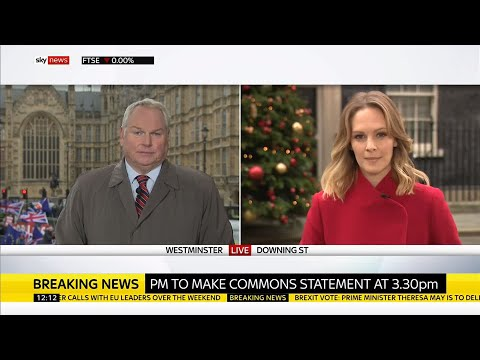 Meaningful vote on withdrawal agreement delayed