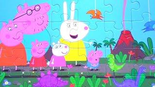 ПЕППА и Джордж в Парке Динозавров - Собираем пазлы для детей Свинка Пеппа
