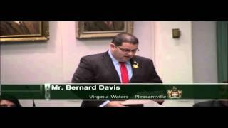 Member for Virginia Waters-Plesantville - Mr. Bernard Davis - April 26 2016