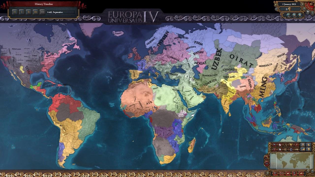 American States Mod Timelapse -Europa Universalis IV