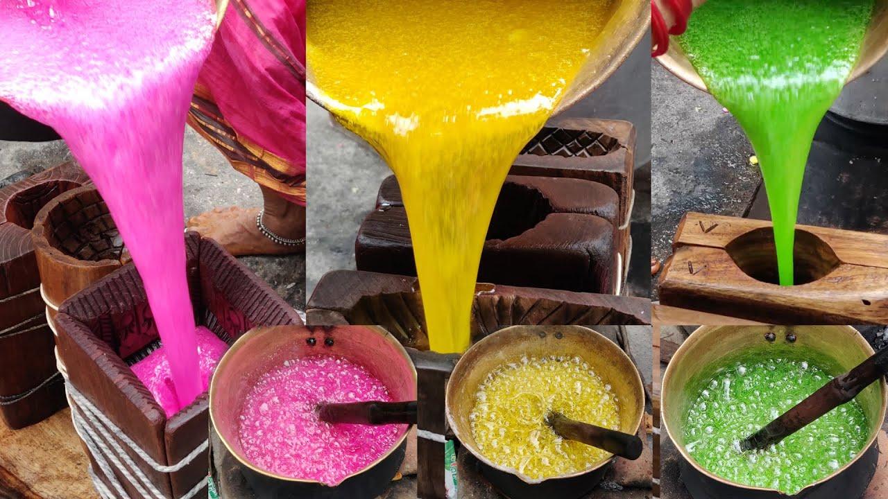 500 Years Old Traditional Sugar Candy Sweet Making by 70 Years Grandma & Team   Panchadara Chila