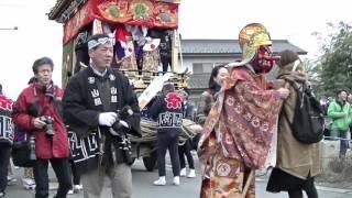 「山田の春祭、皇紀2676」秩父市山田地区にある恒持神社の例大祭で祭神...