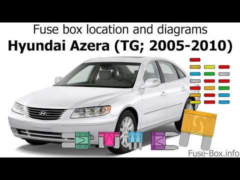 fuse box location and diagrams: hyundai azera (tg; 2005-2010) - youtube  youtube