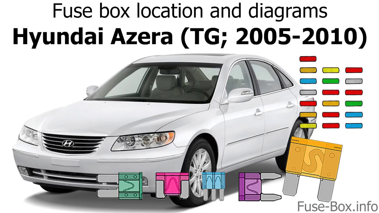 Fuse box location and diagrams: Hyundai Azera (TG; 2005-2010) - YouTube | Hyundai Azera Fuse Box Diagram |  | YouTube
