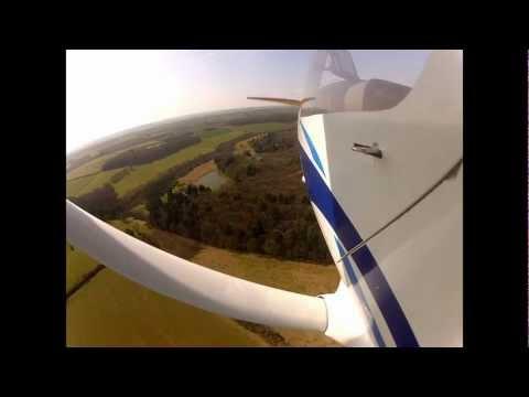 Jabiru landing at Enstone Oxfordshire England