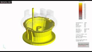 NovaCast - Metal casting simulation of a large steel casting using NovaFlow&Solid CV