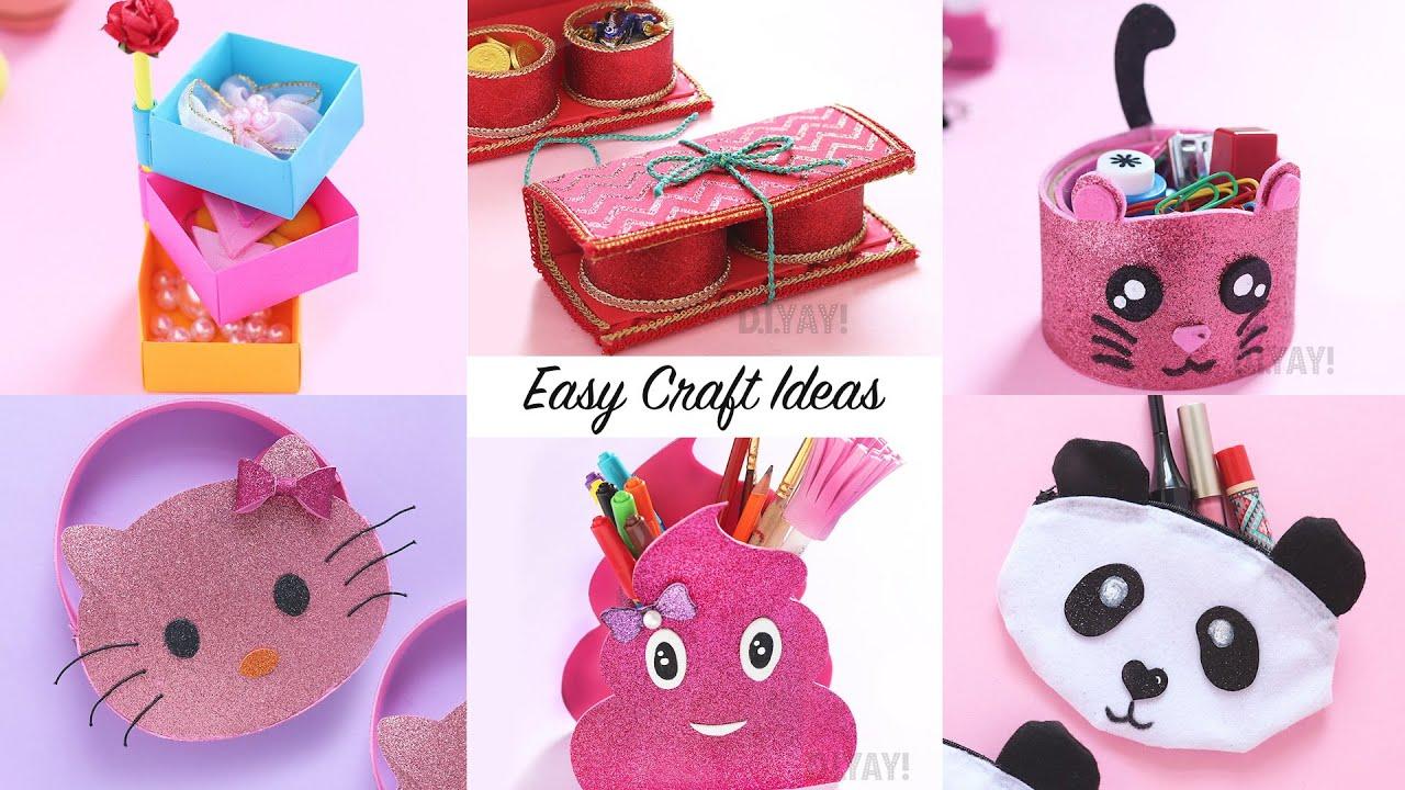 6 Easy Craft Ideas Craft Ideas Diy Crafts Youtube