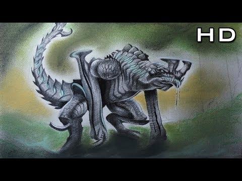 increÍble-dibujo-de-otachi,-kaiju-categoría-4-pacific-rim---titanes-del-pacífico-fanart
