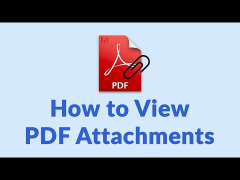 How To View PDF Attachments & Open Attachments From PDF Documents