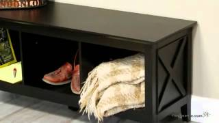 Belham Living Hampton Storage Bench - Black