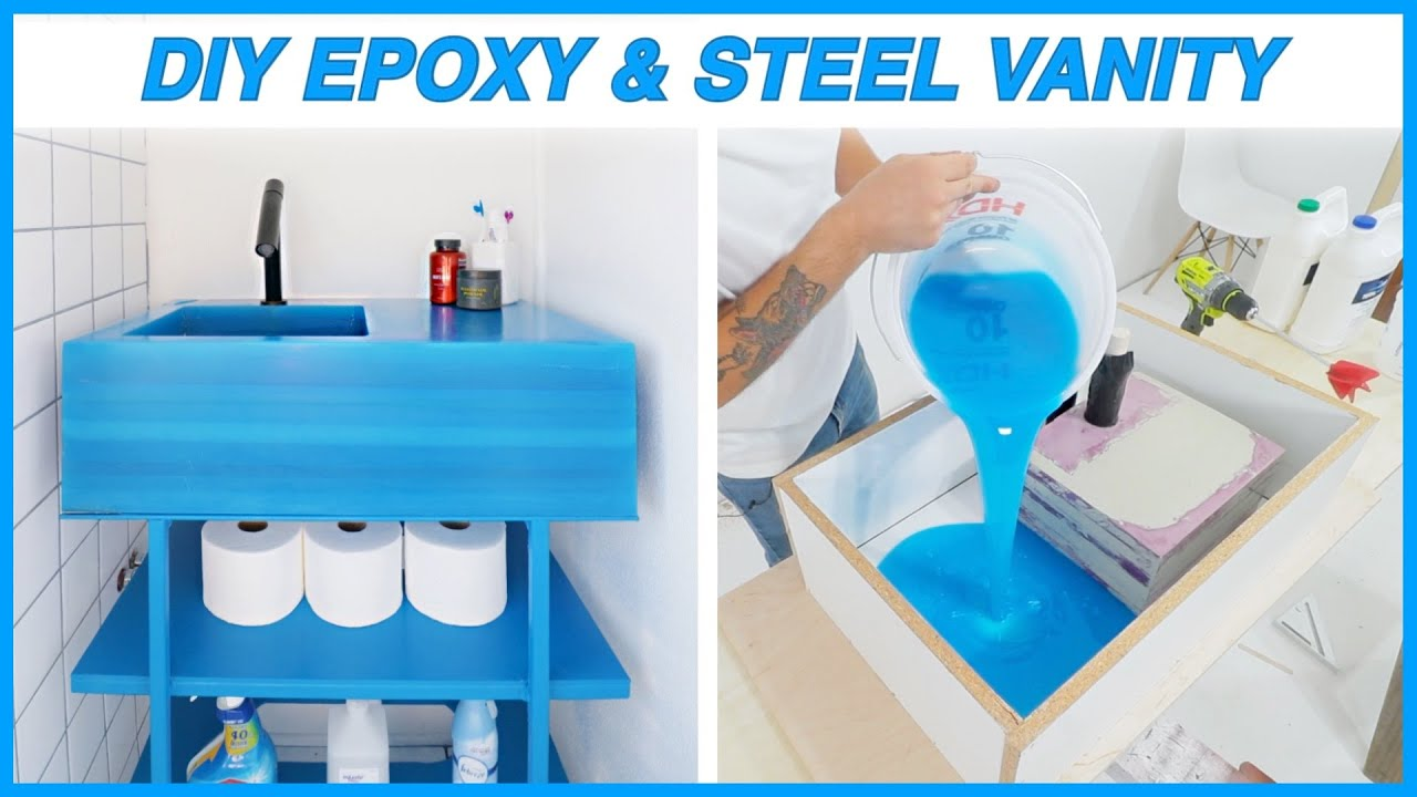 BUILDING an EPOXY POUR VANITY!! | MODERN BUILDS DIY