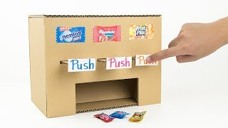 How to Make Multi Candy Vending Machine from Cardboard