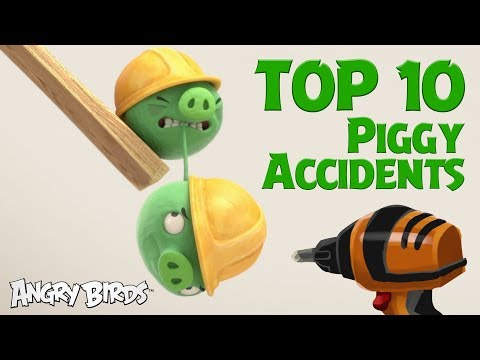 Angry Birds - Pigs at Work | Top 10 Accidents