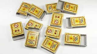 Waste Matchbox reuse idea | Best out of waste | DIY arts and crafts | home decorating idea