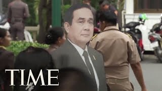 'Ask This Guy': Thailand's PM Leaves A Life-Size Cardboard Cut-Out To Answer Questions | TIME