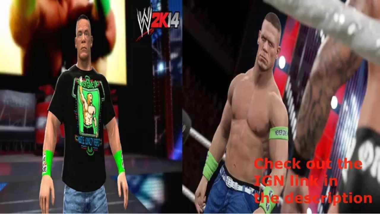 wwe 2k15 gameplay screenshot comparison john cena wwe