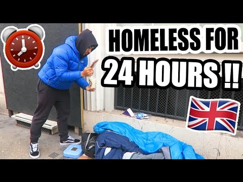 24 HOUR HOMELESS CHALLENGE ON THE STREETS OF LONDON!! ⏰ 🇬🇧 (Social Experiment)