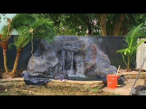 How to build an artificial stone waterfall from scratch PART I