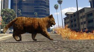 GTA 5 PC Mods Firebreathing Demon Kitty Bad kitty