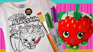 Shopkins color your own tshirt Strawberry Kiss T-shirt DIY / color n style