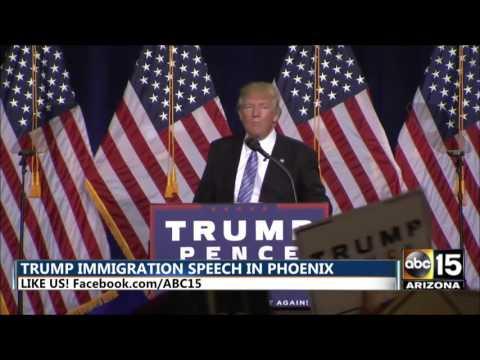 Donald Trump says maybe ICE will deport Hillary Clinton - Phoenix, Arizona