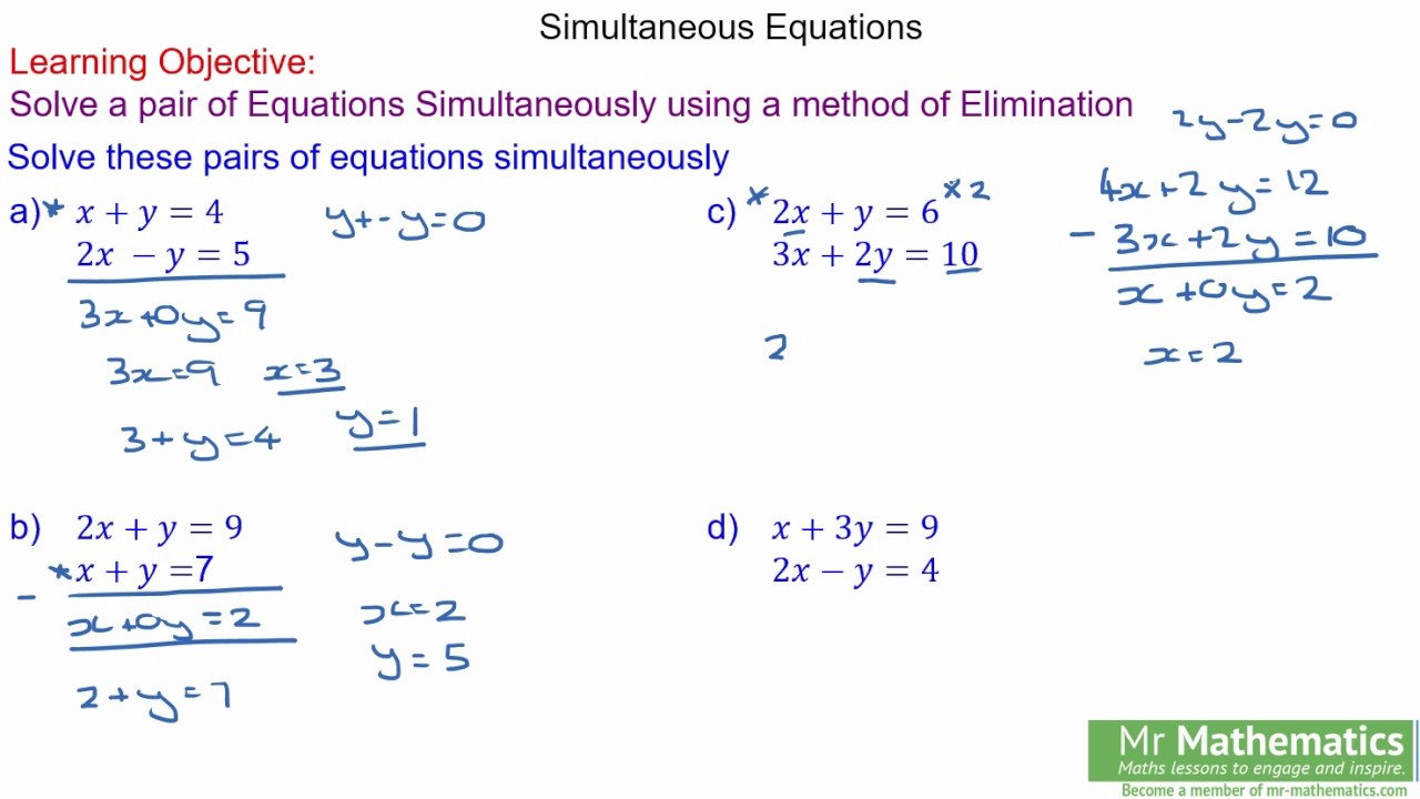 how to find poi of 2 equations