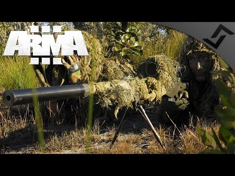 Canadian Sniper Recon Team - ARMA 3 - Ghillie Sniper/Spotter Team Gameplay