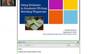 Using Evidence in Academic Writing: Avoiding Plagiarism
