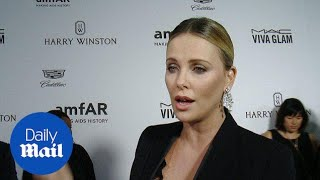 Charlize Theron speaks after amfAR's Inspiration Gala - Daily Mail