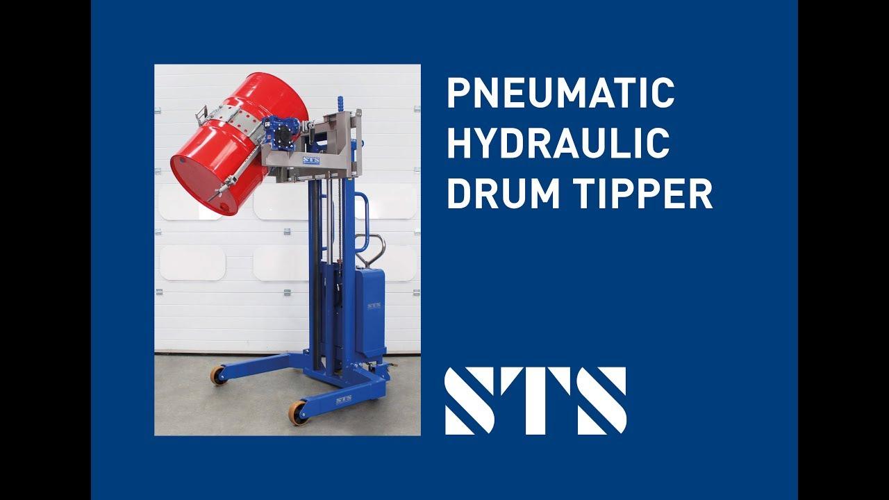 ATEX Pneumatic-Hydraulic Universal Drum Rotator (Model: STP01-DRU01-Ex)