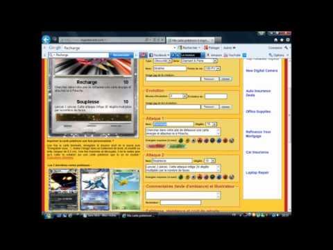 Comment cree et imprimer sa carte pokemon youtube - Imprimer cartes pokemon ...