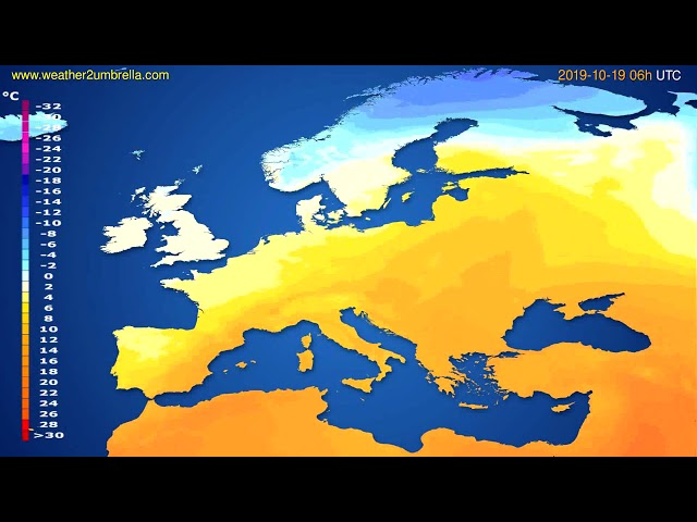 <span class='as_h2'><a href='https://webtv.eklogika.gr/' target='_blank' title='Temperature forecast Europe // modelrun: 12h UTC 2019-10-16'>Temperature forecast Europe // modelrun: 12h UTC 2019-10-16</a></span>