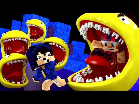 Minecraft | FIRST PERSON HORROR PACMAN MOD Showcase!
