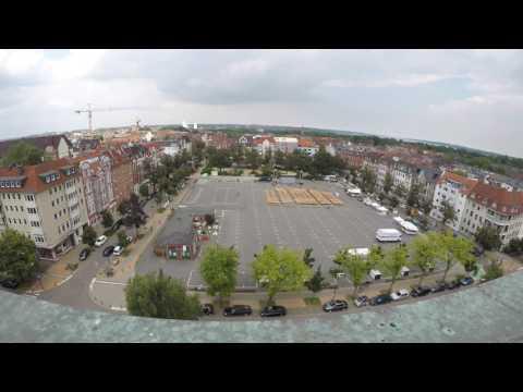 Teil 1 -  Der Aufbau der Liveübertragung der Sommeroper Turandot auf dem Blücherplatz