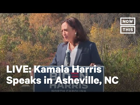Kamala Harris Speaks at Voter Mobilization Event in Asheville, NC | LIVE | NowThis