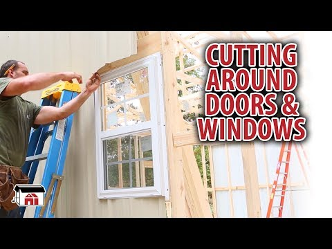 Cutting Around Doors & Windows for our DIY Shop Building Kits