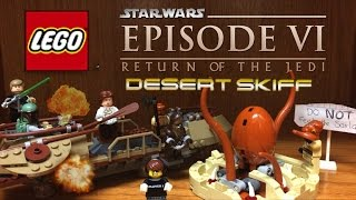 Lego Star Wars 2017 DESERT SKIFF ESCAPE Set Review 75174 with Lego Sarlacc Pit