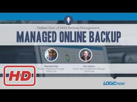 [Tech Tips]Hidden Gem of MAX Remote Management: Managed Online Backup | WEBINAR