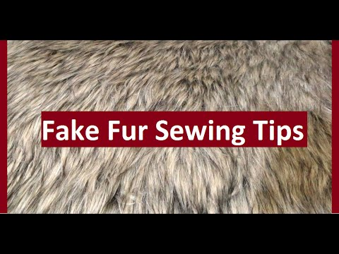 Make Sewing With Fake Fur Easier