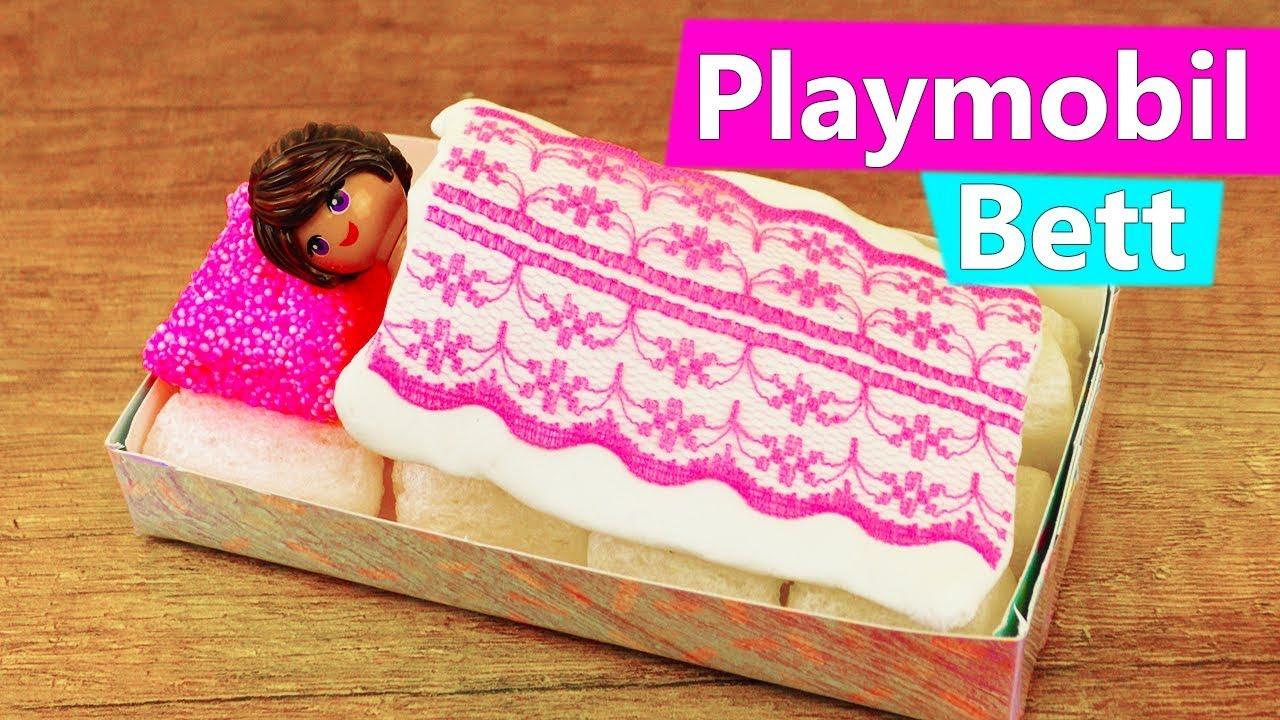 playmobil diy stellas neues bett m bel f r die luxusvilla selber machen playmobil kids youtube. Black Bedroom Furniture Sets. Home Design Ideas