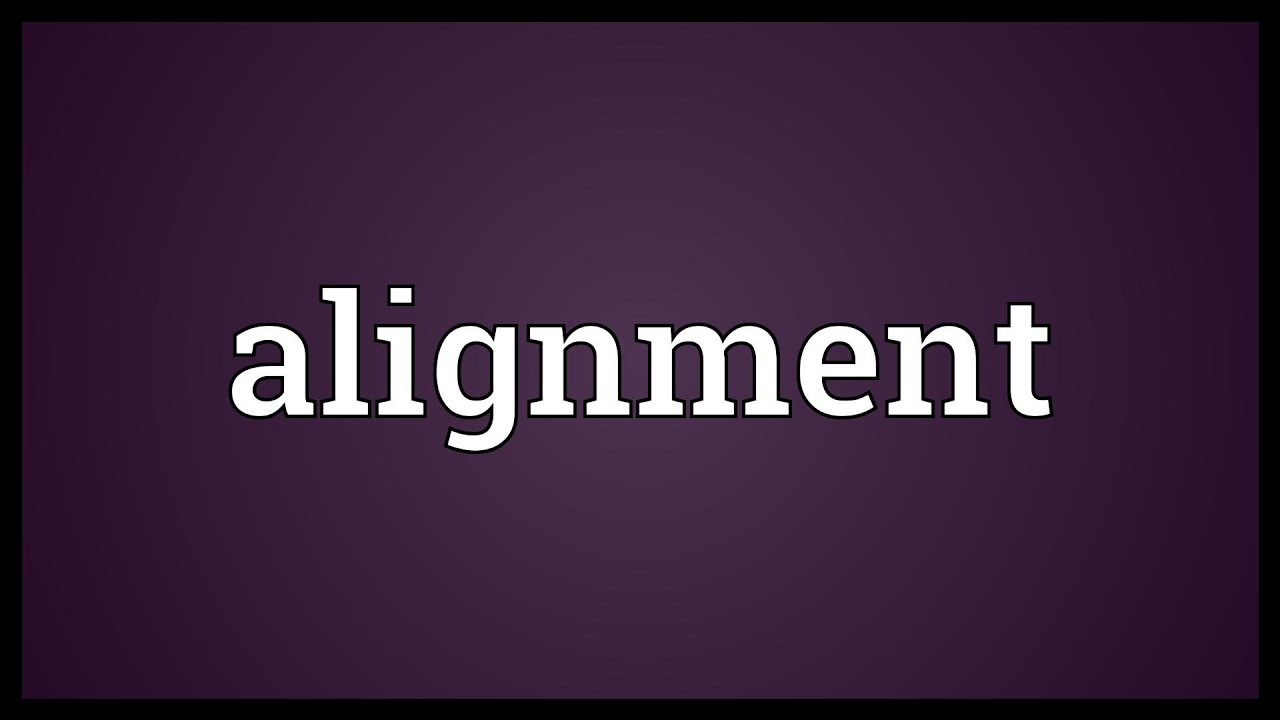 alignment definition