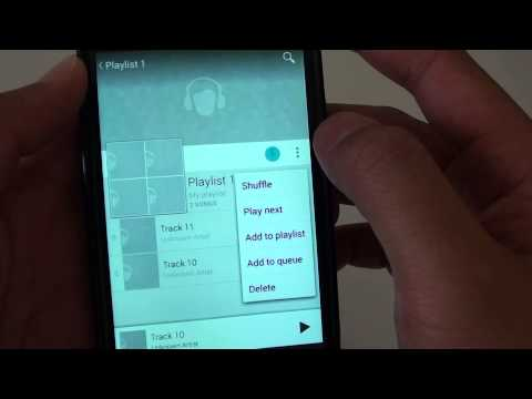 Google Nexus 4: How to Add a Playlist to the Music Queue