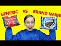 TARGET TASTE TEST CHALLENGE: BRAND NAME VS GENERIC | COLLINTV
