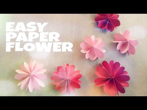 DIY Trang trí phòng ngủ - Gấp hoa bằng giấy xinh xắn