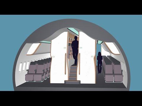 New aircraft cabin design to improve comfort in economy and business classes.